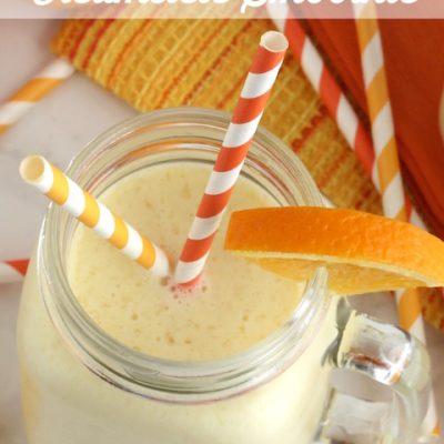 Pineapple Orange Creamsicle Smoothies