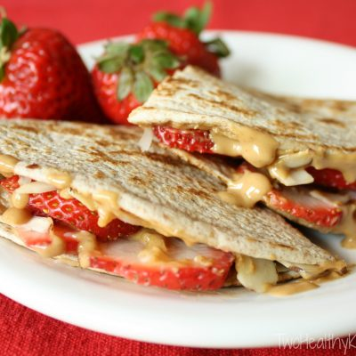Strawberry-Peanut Butter Quesadillas
