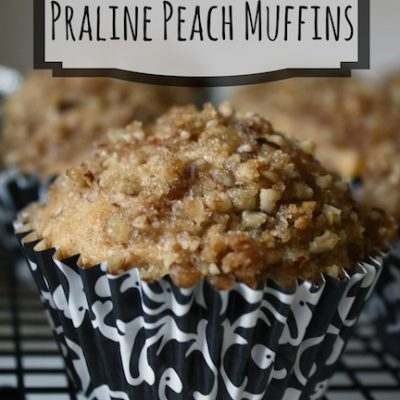 Praline Peach Muffins