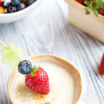 Healthy Sugared-Vanilla Yogurt Fruit Dip