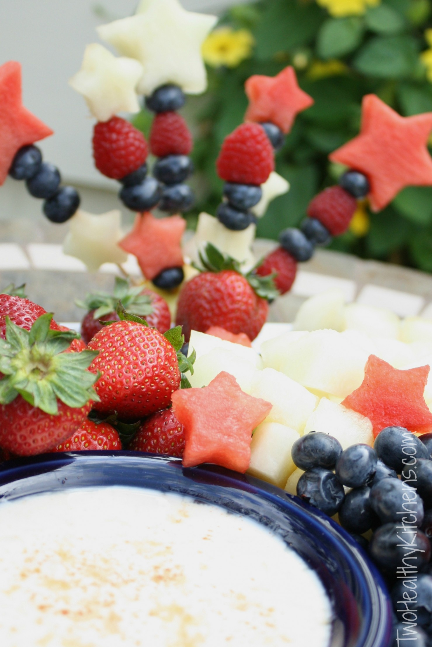 Healthy Sugared-Vanilla Fruit Dip Recipe {Two Healthy Kitchens}