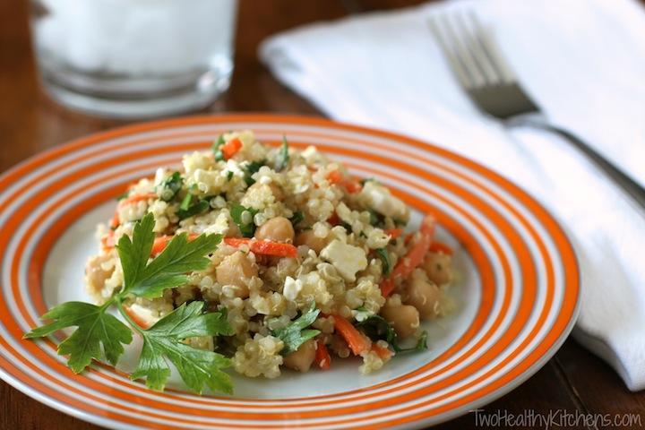 Citrus Quinoa Chickpea Salad