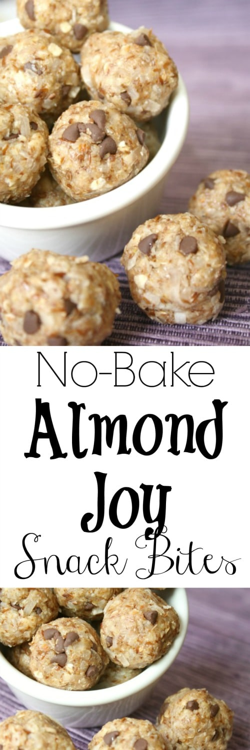 No-Bake Almond Joy Snack Bites Recipes {www.TwoHealthyKitchens.com}