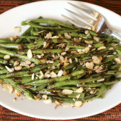 Roasted Green Beans with Balsamic-Browned Butter