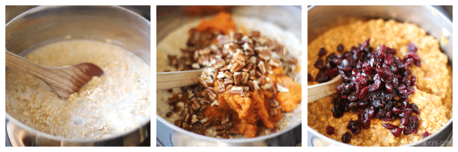 10-Minute Pumpkin Pie Oatmeal Recipe {www.TwoHealthyKitchens.com}
