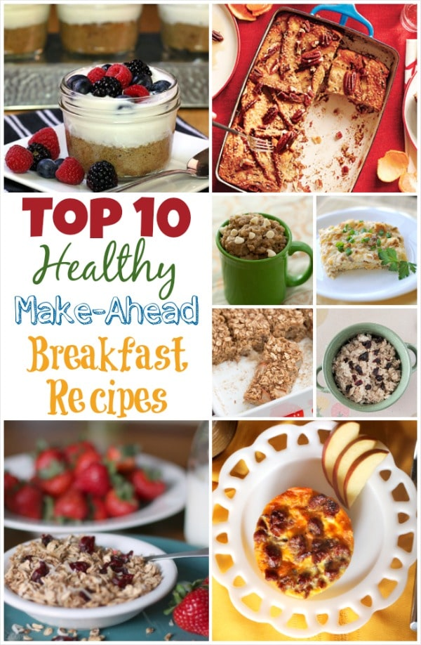Top 10 Healthy Make-Ahead Breakfast Recipes {www.TwoHealthyKitchens.com}
