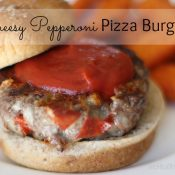 Cheesy Pepperoni Pizza Burgers