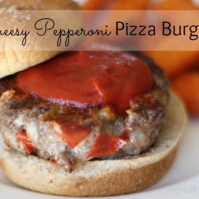Cheesy Pepperoni Pizza Burgers