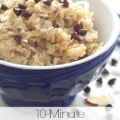10-Minute Almond Joy Oatmeal