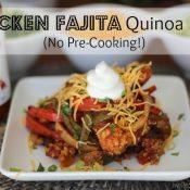 Chicken Fajita Quinoa Bake (No Pre-Cooking!)