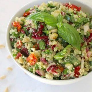 Mediterranean Confetti Quinoa Salad