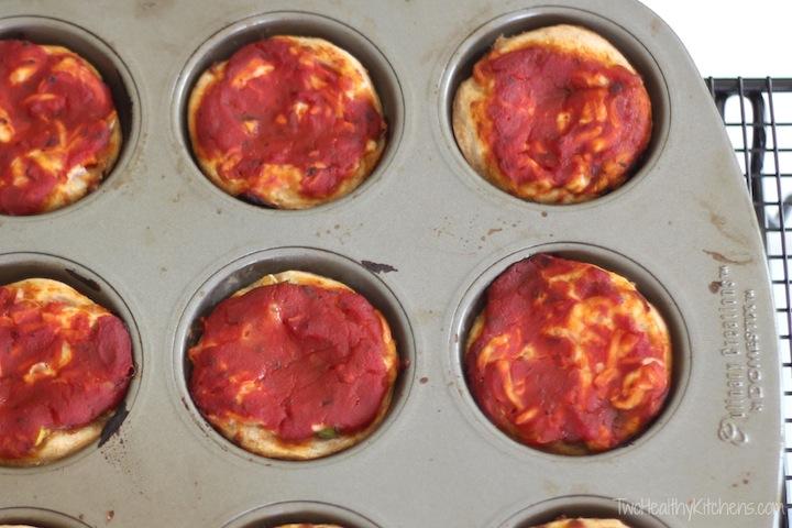 Mini Deep Dish Pizzas + Dessert! Recipe {www.TwoHealthyKitchens.com}