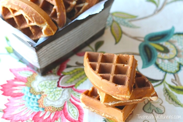 Mom's Best Whole Wheat Waffles Recipe {www.TwoHealthyKitchens.com}