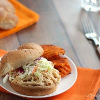 Crock-Pot North Carolina BBQ Pulled Chicken Sandwiches