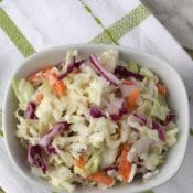 No-Mayo Greek Yogurt Coleslaw