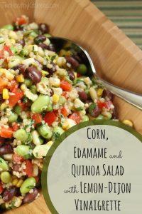THK Corn, Edamame and Quinoa Salad with Lemon-Dijon Vinaigrette Text