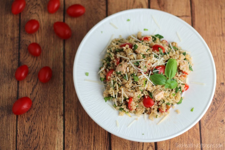 Easy chicken salad with quinoa tomatoes lemon and basil easy healthy chicken salad with quinoa tomatoes lemon and basil recipe www forumfinder Images