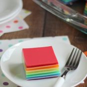 Layered Rainbow Jell-O Salad