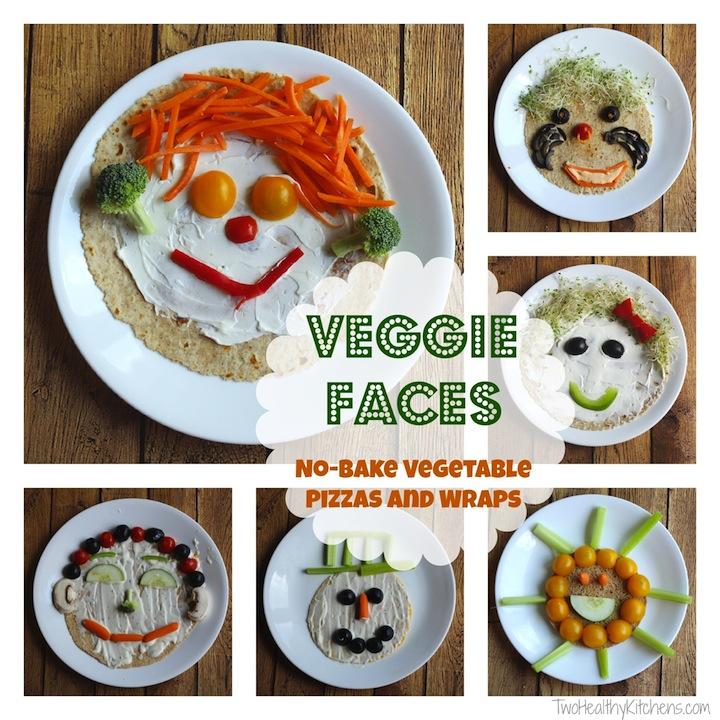 Veggie Faces No Bake Vegetable Pizzas And Wraps