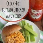 Healthy Crock-Pot Buffalo Chicken Sandwiches