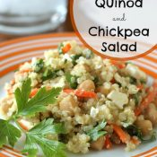 Citrus Quinoa and Chickpea Salad