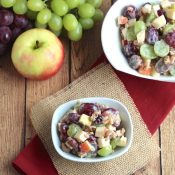 Hearty Fruit and Nut Salad with Greek Yogurt Dressing