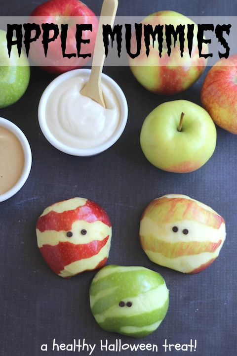 Apple Mummies - A Healthy Halloween Treat!