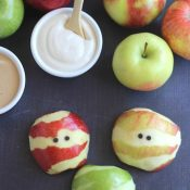 Apple Mummies – A Healthy Halloween Treat!