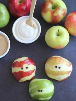 Apple Mummies – A Healthy Halloween Treat!