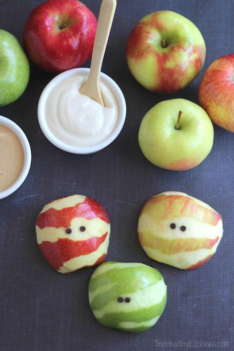 Apple Mummies - A Healthy Halloween Treat!