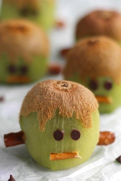 Frankenstein Kiwis Another Healthy Halloween Treat