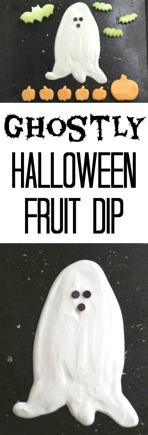 Ghostly Halloween Fruit Dip Recipe – (Yet Another!) Healthy Halloween Treat {www.TwoHealthyKitchens.com}
