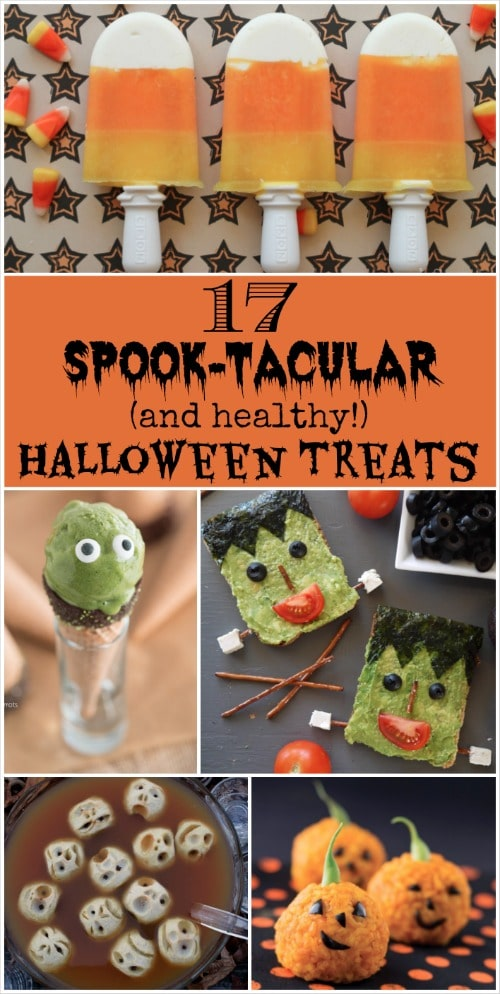 17 spook tacular and healthy halloween treats wwwtwohealthykitchens - Healthy Fun Halloween Snacks