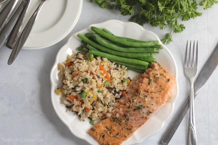 Easy Honey-Glazed Salmon Recipe {www.TwoHealthyKitchens.com}