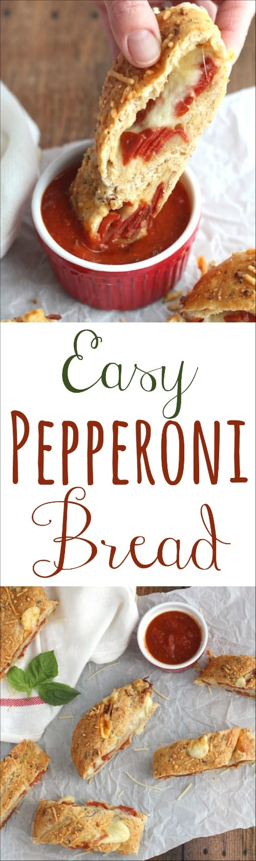 Easy Pepperoni Bread Recipe {www.TwoHealthyKitchens.com}