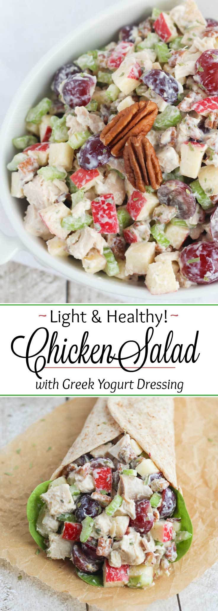 Healthy Chicken Salad with Grapes, Apples and Tarragon-Yogurt ...