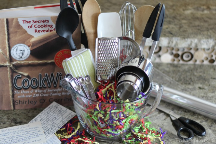 14 Easy Crafts and Gifts for Cooks and Bakers (DIY Gifts for ... Kitchen Gadgets Basket Ideas on gardening basket, vegetables basket, kitchen accessories basket, game night basket, kitchen tool basket, new dog basket, kitchen gift basket, kitchen utensil basket, pasta basket, kitchen christmas basket, kitchen wedding basket, pizza basket,