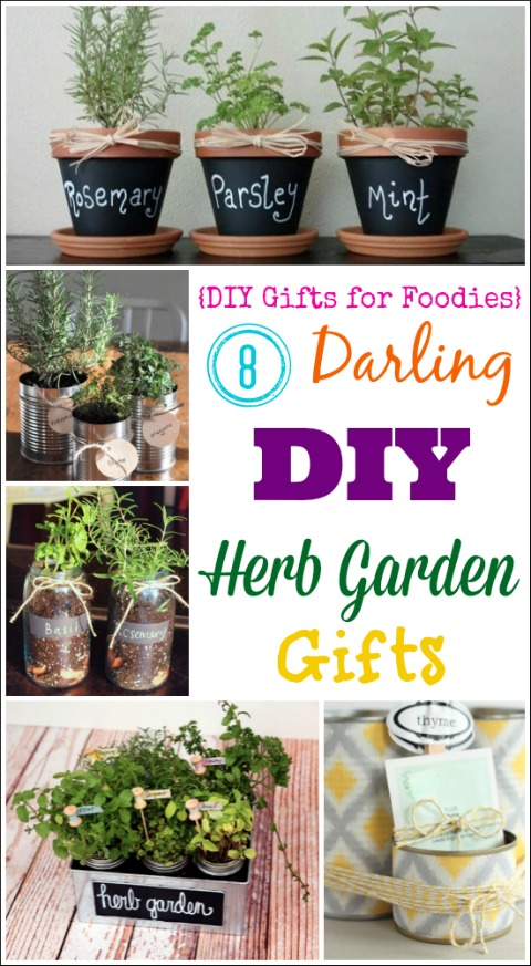 8 Darling DIY Herb Garden Gifts (DIY Gifts For Foodies Week) {Two Healthy