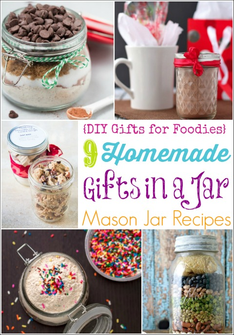 Homemade christmas gift recipe jars
