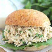 Crock-Pot Chicken Caesar Sandwiches
