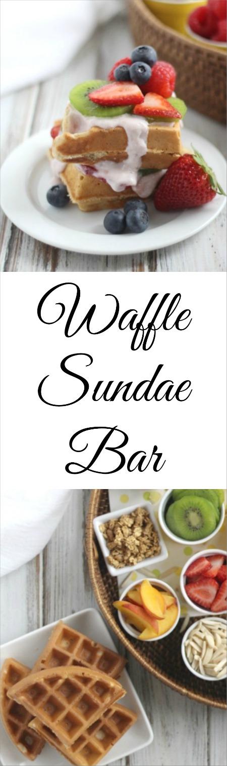 "Waffle Sundae Bar Recipe (for Brunch, Dessert or ""Brinner""!) {www.TwoHealthyKitchens.com}"