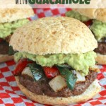 Easy Grilled Fajita Burgers with Guacamole
