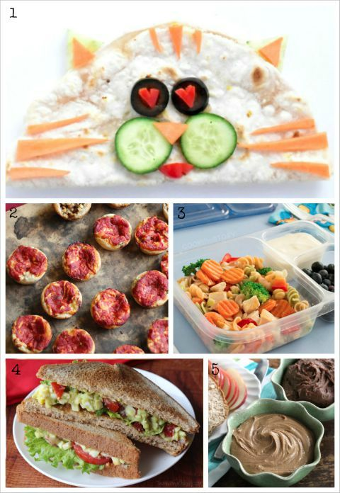 Easy, Healthy Kids' Lunch Ideas (A Whole Month of Fun Lunch Box Recipes!) {www.TwoHealthyKitchens.com}
