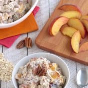 No-Cook Praline Peach Instant Oatmeal (Overnight Oats Option, Too!)