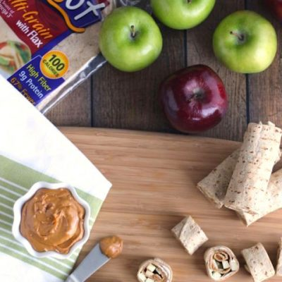 No-Bake Apple Pie Cheesecake Pinwheels
