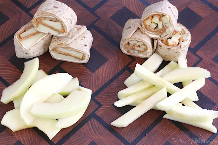 No-Bake Apple Pie Cheesecake Pinwheels Recipe {www.TwoHealthyKitchens.com}