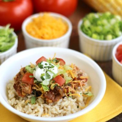 Easy Crock-Pot Chicken Burrito Bowls