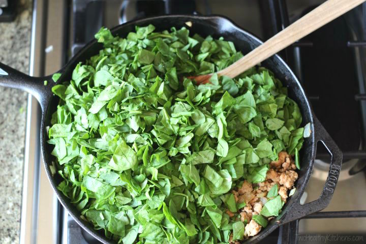 Orecchiette with Sausage and Spinach Recipe {www.TwoHealthyKitchens.com}