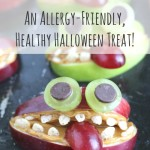 Apple Monsters – A Nut-Free, Healthy Halloween Treat!
