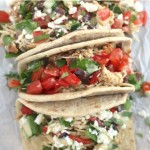 Mediterranean Crock Pot Chicken Taco Bar